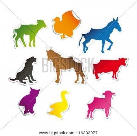 Animals on stickers