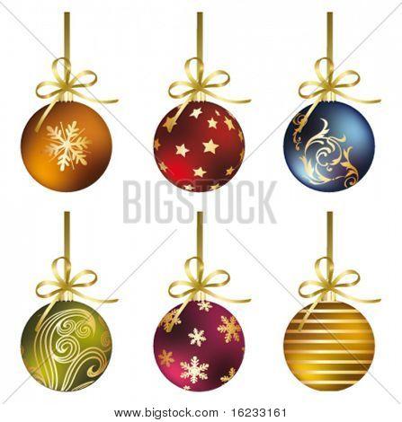 Set with christmas ball