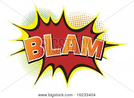 Cartoon-blam. Vector
