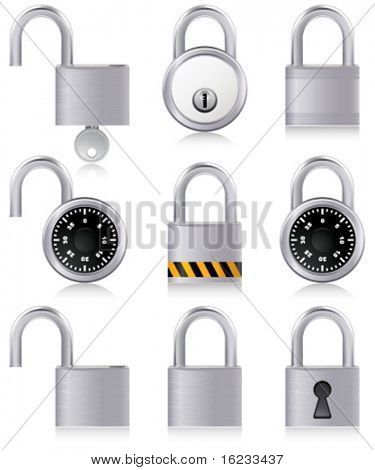 set with padlocks