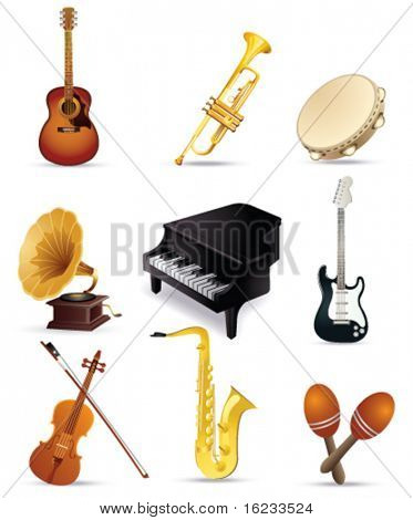 Musical instrument set. Vector