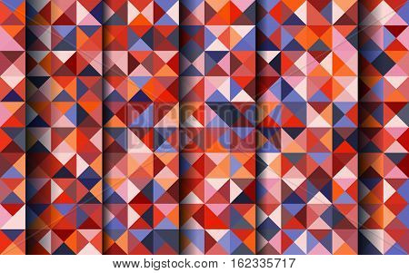 Vector abstract color mosaic background for design brochure website flyer card. Abstract geometric background with triangles shapes and shadows. Stock vector eps10