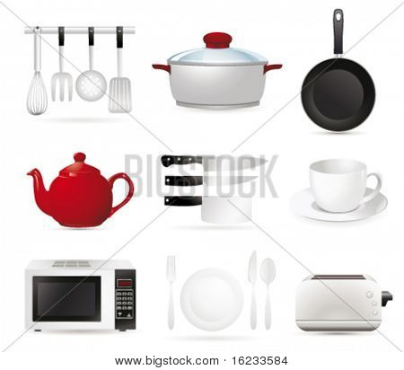 kitchen set. Vector