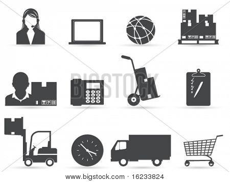 Iconos de la logísticos