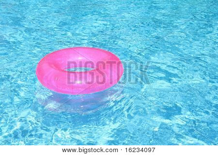 rubber ring in blue pool