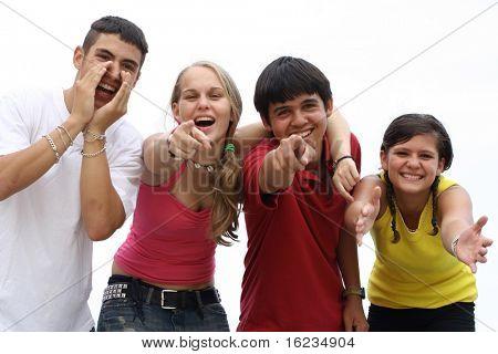 Multi-ethnische Gruppe