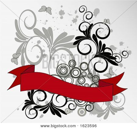 Flor abstracta belleza marco fondo - Vector