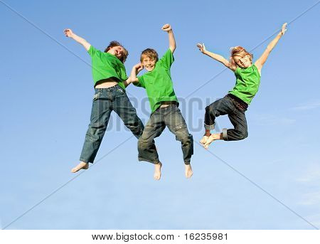 ********Attention..SECOND AND THIRD BOY ARE THE SAME BOY, THEREFORE ONLY TWO RELEASES******* three boys jumping