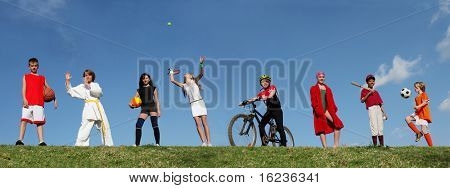 Deportes de verano de los niños