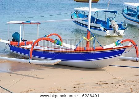 Traditional Fishing Boat. Bali, Indonesia.