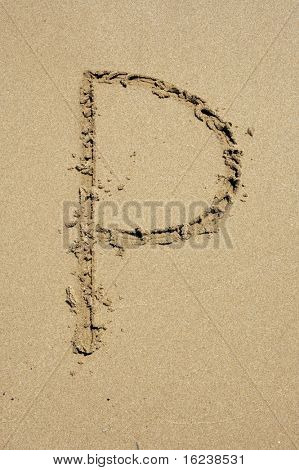p in the sand