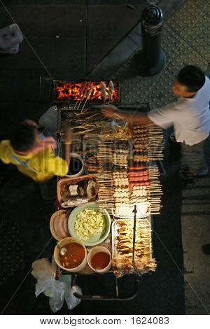 Vendedor de comida de la calle