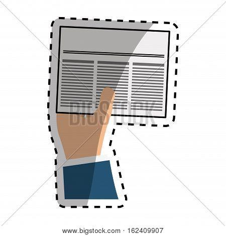 Newspaper info article icon vector illustration graphic design