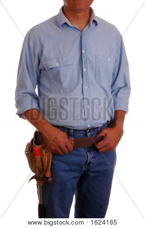 Man In Jeans & Toolbelt
