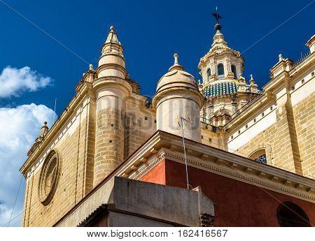 Iglesia colegial del Divino Salvador, a baroque style church in Seville, Spaine