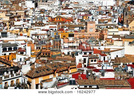 aerial view of Sevilla, Seville, Spain
