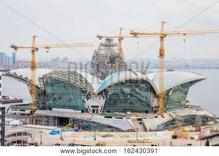 Caspian Waterfront Mall Under Construction, Baku