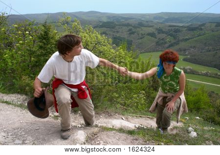 Man Helping Woman