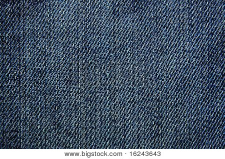 Close up of blue jeans denim texture background