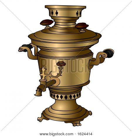 Samovar On The White Background