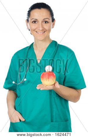 Lady Doctor And Apple