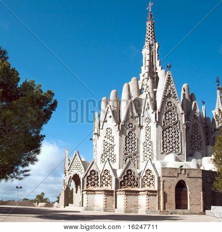 MONTFERRI, SPAIN - FEBRUARY 12: Montserrat's Sanctuari on February 12, 2009 in Montferri, Spain. This sanctuari was designed by Josep Maria Jujol, a disciple of Antoni Gaudi.