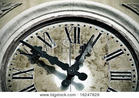 close up of an ancient wall clock