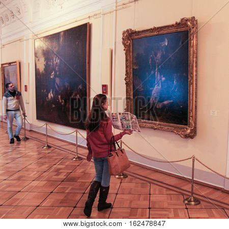 Gatchina, Russia - 3 December, People interested in art, 3 December, 2016. Visit the Museum Reserve Gatchina Palace.