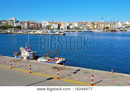 a view of the coastline of Cambrils, Spain