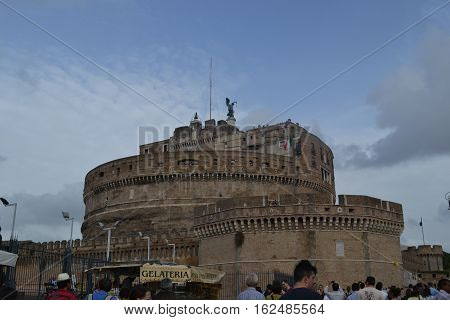 Castel Sant'Angelo in Rome on the Tiber River