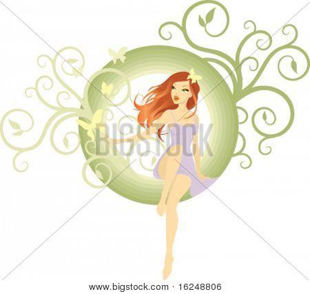 Hintergrund mit Schönheit Mädchen