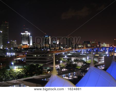 Night Miami Skyline