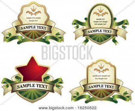 collection of vintage emblems