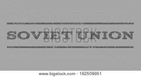 Soviet Union watermark stamp. Text caption between horizontal parallel lines with grunge design style. Rubber seal stamp with unclean texture.