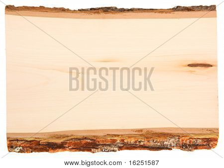 Wood Plank Isolated On White Background