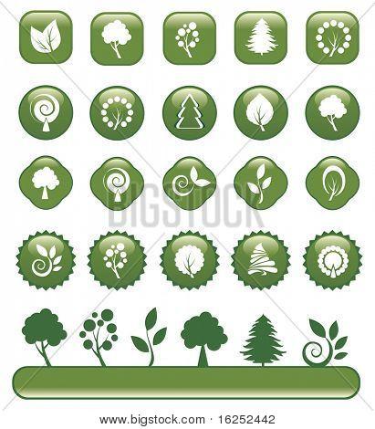 Set of design elements. Vector version see in my portfolio.
