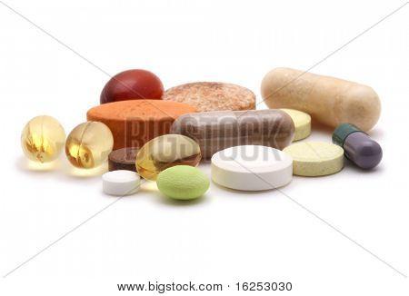 vitaminas, comprimidos e comprimidos