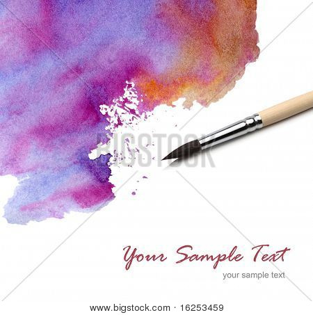 artists brush watercolor painted