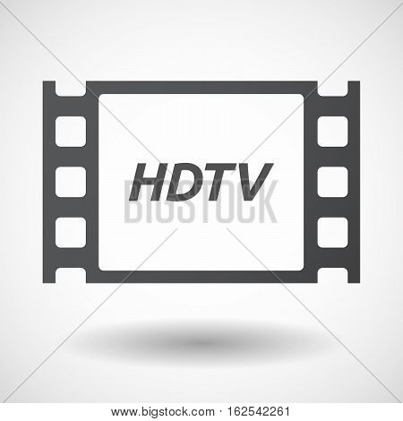 Isolated Frame With    The Text Hdtv