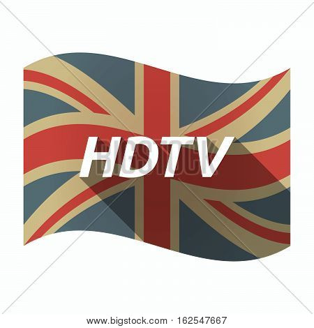 Isolated Uk Flag With    The Text Hdtv