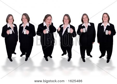 Businesswomen With Coffee Cups