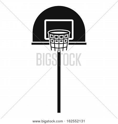 Street basketball hoop icon. Simple illustration of street basketball hoop vector icon for web