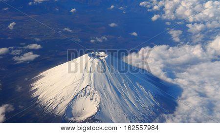 Top View Of Mt. Fuji .