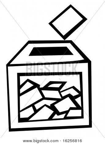 urnas en el día de las elecciones