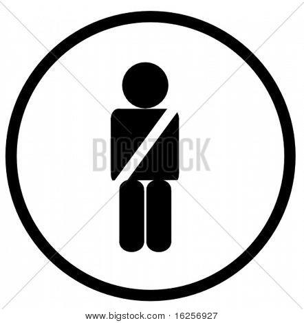 use your seat belt symbol