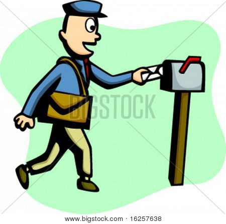mailman delivering a mail
