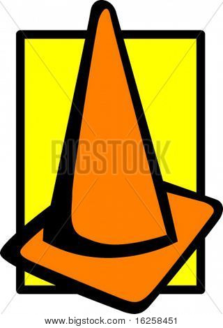 traffic caution cone