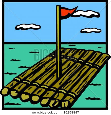raft wood ship