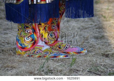 Colorful Native American Footwear