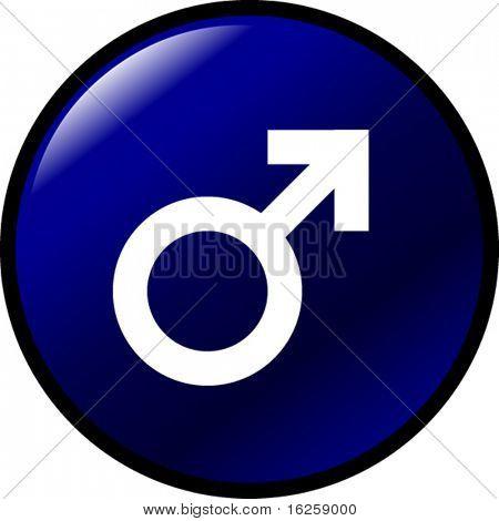 männlichen Geschlecht-Symbol-button